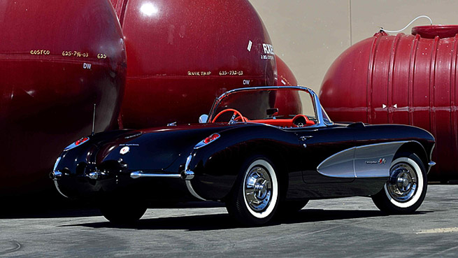 1957 Chevrolet Corvette Convertible 283-250 HP Rear Angle