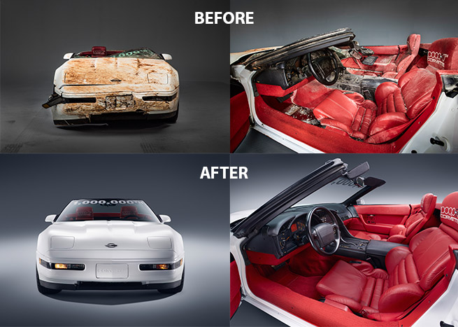Chevrolet Fulfills 1 Millionth Corvette Restoration Pledge Before After